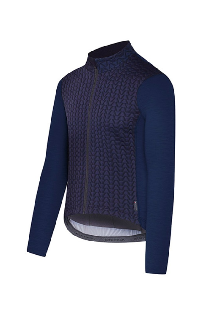 [Cafe Du Cycliste] Men's Irma Audax Long Sleeve Jersey - Navy 이르마 어덱스 롱슬리브 져지 네이비