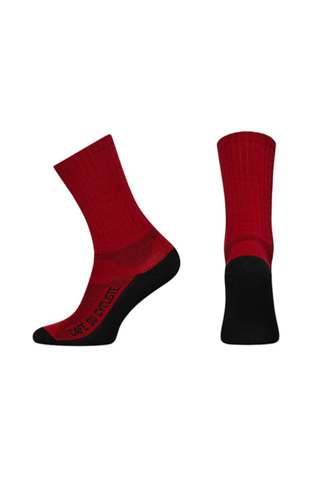[Cafe Du Cycliste] Primaloft Merino Socks Red 프리마로프트 메리노 삭스 레드