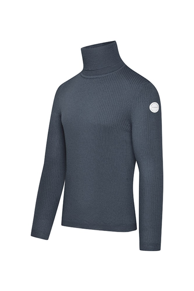 [Cafe Du Cycliste] Men's Nicole Polar Neck Jumper - Grey 니콜 폴라넥 점퍼 그레이