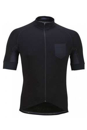 [Cafe Du Cycliste] 카페 뒤 사이클리스트 Men's Louise Silk & Merino Jersey - Black