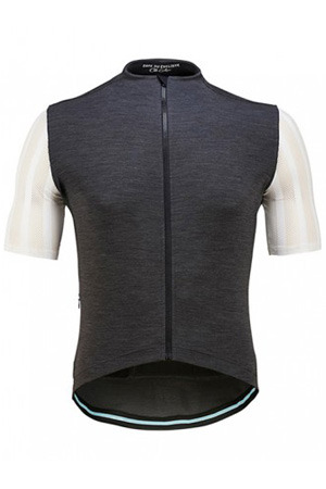 [Cafe Du Cycliste] 카페 뒤 사이클리스트 Men's Georgette Mid Weight Merino - Grey Melange