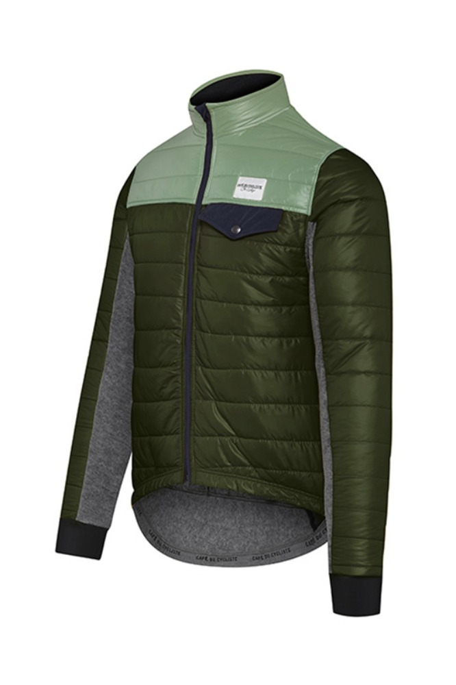 [Cafe Du Cycliste] Men's Albertine Down Padded Jacket Duo-Green 알버틴 다운 패드 자켓 듀오 그린